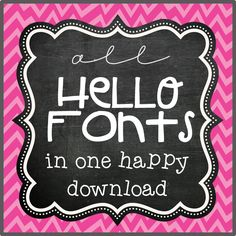 all hello fonts in one happy download