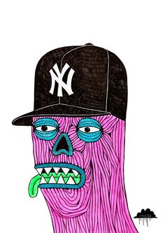 NY Zombie by Mulga the Artist Mural Painting, Paintings, Cute Monsters, Bear Art, African Masks, Freelance Illustrator, Animal Party, Street Artists, Illustrations Posters