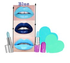 """Blue"" by roseunspindle ❤ liked on Polyvore featuring beauty, Lime Crime, Viva La Diva, blue and lipstick"