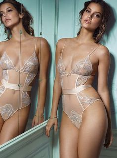 #sheer #lingerie and lace on Barbara Palvin Monaliza's Lingerie in Kerrisdale