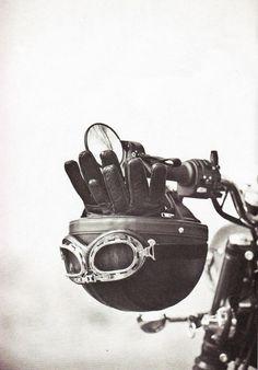 #Vintage #Helmet, #Goggles & #Gloves