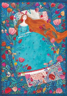 Sleeping Beauty by Kurti Andrea is a lovely 1000 piece puzzle with playful colours.