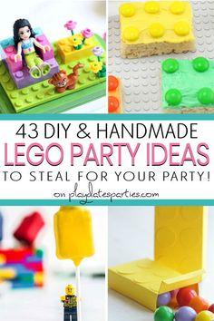 Diy Lego Birthday Party Ideas, Girls Lego Party, Lego Party Games, Lego Party Favors, Lego Friends Birthday, Lego Friends Party, Lego Girls, Birthday Party Games, Lego Parties