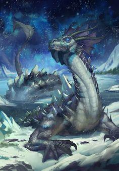 Artic Dragon by alex pei