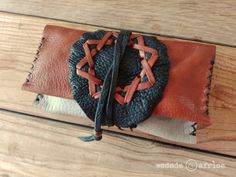 This item is unavailable Deerskin, Star Shape, Wooden Beads, Leather Cord, Pouches, Hand Stitching, Upcycle, Wax, My Etsy Shop