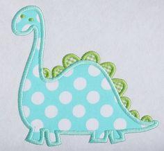 Dinosaur Machine Embroidery Applique Design