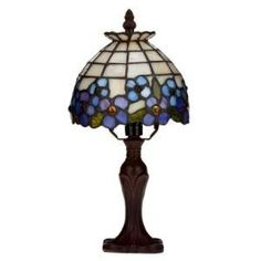 Beautiful Tiffany style table lamp $64.00  http://www.thelampguide.com/crystal-lamps/  #crystal #lamps #tiffany style