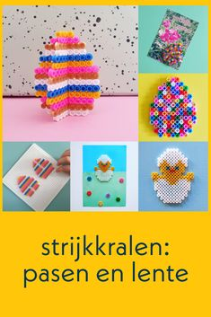 Hama Beads Design, Diy Perler Beads, Pearler Beads, Beading Patterns, Crochet Patterns, Iron Beads, Easter Crochet, Craft Activities, Crafts For Kids