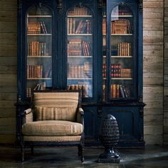 Shop the Victorian Bookcase by Ralph Lauren by EJ Victor at Furnitureland South, the World's Largest Furniture Store and North Carolina's Premiere Furniture Showroom. Home Theaters, Library Room, Dream Library, Large Furniture, Furniture Design, Luxury Furniture, Victorian Bookcases, Victorian Library, Bookcase With Glass Doors