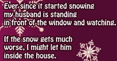 Ever since it started snowing funny quotes quote winter lol funny quote Snow Quotes, Best Quotes, Funny Quotes, Christmas Jokes, Lol, Hilarious, It's Funny, Adult Humor, Humor
