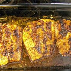 Cajun Blackened Redfish, (I would hold a lot of the butter = much healthier)