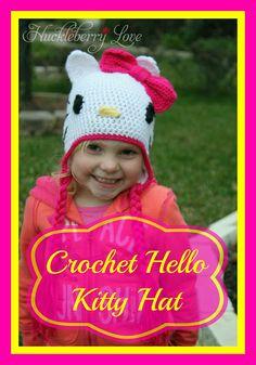 Huckleberry Love: Crochet Hello Kitty Hat {Tutorial}