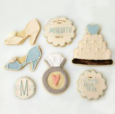 bridal shower cookies designed after minted invitations, sweet kiera