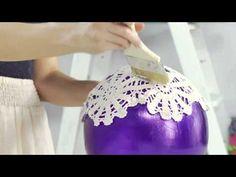 DIY Doily Lantern with SoCraftastic! #17NailedIt - YouTube