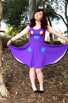 Hey, I found this really awesome Etsy listing at https://www.etsy.com/listing/243324996/matte-butterfree-skater-dress