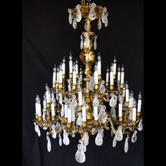 Rock crystal chandelier