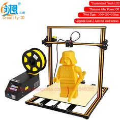 Touch LCD Display Optional CREALITY 3D CR-10 Large Print Size 3D Printer DIY Kit Aluminum Heated Bed+Glass Plate+Free Filaments