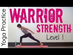 20 Minute Level 1 Warrior Strength Practice - Power Yoga - YouTube
