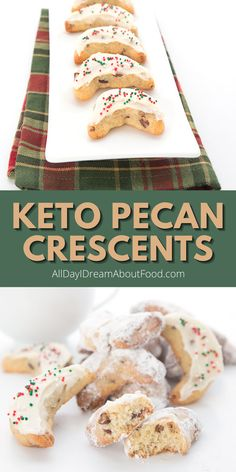 Tender pecan crescent cookies made with almond flour. These easy and delicious low carb cookies are a must make for the holiday season. They also make great snowball cookies too! And at 4g total carbs per serving, you can afford to indulge.