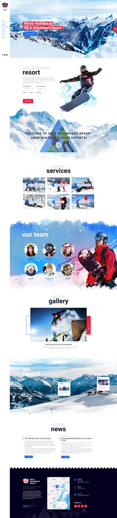 Snow Club has modern and functional design created for ski / snowboarding industry. The theme is perfectly suitable for ski resorts ski / snowboard schools or classes, or personal ski / snowboard trainers.