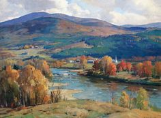 Aldro Thompson Hibbard - West River in Autumn