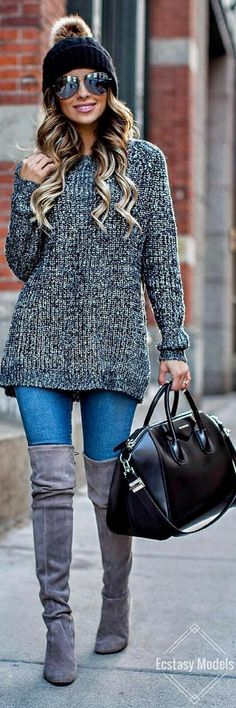 Sweater And Beanie // Fashion Look by Maria Vizuete