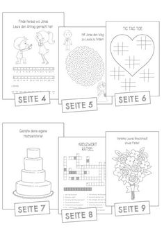 Activity Book Wedding Vintage Malheft Kids Rätselheft Hochzeit Kinder