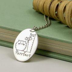 Sterling Silver Cat Necklace - Personalised Necklace - Name Necklace - Tall Cat Fat Cat Thin Cat by JewelleryFurKeeps on Etsy https://www.etsy.com/listing/512901479/sterling-silver-cat-necklace