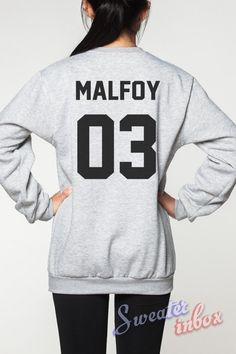 Draco Malfoy Harry Potter Sweatshirt Deathly by SweaterinBox