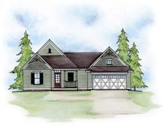 House Plan 66612 | Traditional    Plan with 1170 Sq. Ft., 2 Bedrooms, 3 Bathrooms, 2 Car Garage