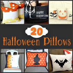 Halloween Pillows | Crafting in the Rain #halloween #sewing