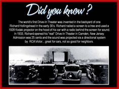 First Drive In Theater, Night Prowlers, Kustom Car Parts, Trivia, Hot Rod, Kustom