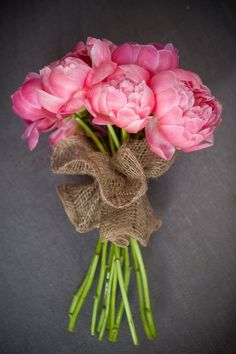 The Painted Bench - Pink Peony Bouquet