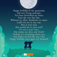 happy birthday poems for husband.The top 20 Ideas About Happy Birthday Quotes for Husband Birthday Poems For Husband, Birthday Wishes Poems, Wife Birthday Quotes, Romantic Birthday Wishes, Wishes For Husband, Birthday Wishes For Boyfriend, Birthday Wishes For Myself, Birthday Gifts, Men Birthday
