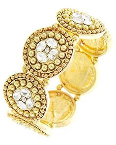 Fancy Stretch Bracelet BS Clear Crystal Ornate Gold Tone Evening Recyclebabe Bracelets http://www.amazon.com/dp/B017CHCU0Q/ref=cm_sw_r_pi_dp_HeTmwb1XPDVTD