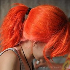 pretty bright orange hair