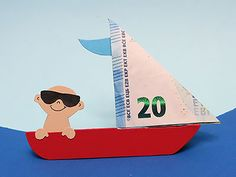 Geldgeschenk Boot für Urlauber ;-)