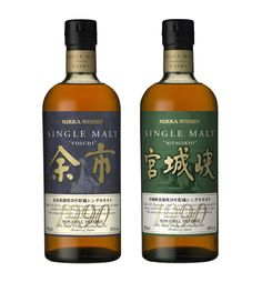 Nikka Single Malt Yoichi 1990 & Nikka Single Malt Miyagikyo 1990 (2010, non-chill filtered)