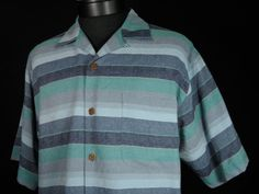 Tommy Bahama Relax 100% Silk Button Up Shirt Mens Size S Small Striped Stripes #Mensfashion #Style #Blackfriday http://r.ebay.com/ZvD5gm