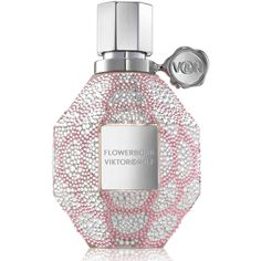 Viktor & Rolf Flowerbomb Swarovski Limited Edition ($2,500) ❤ liked on Polyvore featuring beauty products, fragrance, beauty, perfume, flower perfume, viktor rolf perfume, viktor rolf fragrance, blossom perfume and flower fragrance