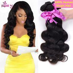 100g Brazilian 100% Virgin Human Hair 3 Bundles Body Wave Weave Weft Extensions #Jisheng #WaveBundle