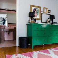 Kristina Wilson Design Houston Coral Green Nursery Emerald Girls