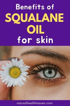Squalane oil for healthy skin - Squalane oil is a natural face oil that is suitable for all skin types and helps with acne, rosacea, eczema and has anti-aging properties. Organic Oil, Organic Skin Care, Natural Skin Care, Natural Health, Natural Face, Skin Treatments, Acne Oil, Skin Care Spa