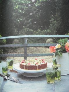 nigel slater's pistachio cake from the kitchen diaries.