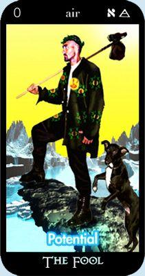 The Fool - Potential - from Paul O'Mara Tarot