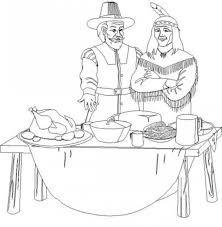 Resultado de imagen para coloring pilgrims