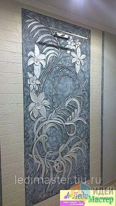 Decorative Plaster, Plaster Art, Wall Art Wallpaper, Mural Wall Art, Wall Sculptures, Sculpture Art, Exterior Wall Design, Clay Wall Art, Plafond Design