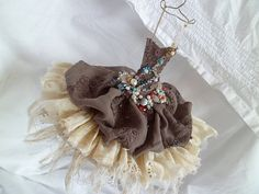 Art Dress Made From Paper and Fabric  Dress For A by MesssieJessie, £39.50