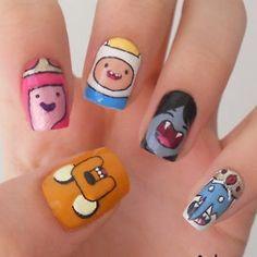 Diseños nail art Hora de Aventuras | Todokawaii