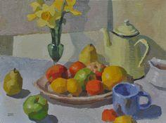 """""""Arrangement with Daffodils""""  oil 18x24  Peggi Kroll Roberts"""